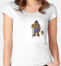 Scottish Bear and companion Women's Fitted Scoop T-Shirt
