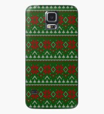 Knitted Christmas pattern red green Case/Skin for Samsung Galaxy