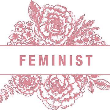 Floral FEMINIST Sticker by aterkaderk