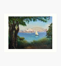 Sydney Harbour from Mrs Macquaries Chair. Art Print