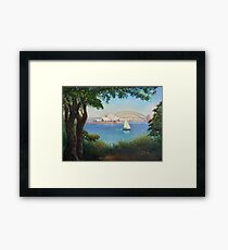 Sydney Harbour from Mrs Macquaries Chair. Framed Print