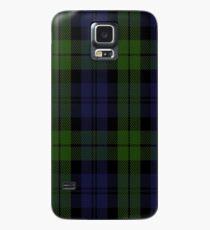00535 Black Watch (smallest sett) Military Tartan  Case/Skin for Samsung Galaxy