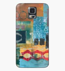 Primary Color Abstract Collage  Case/Skin for Samsung Galaxy
