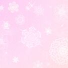 Winter Snow Flake Fun Pink by VampicaX