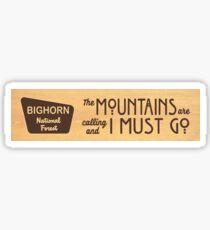 Bighorn National Forest Sticker