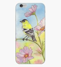 Goldfinch and Flowers iPhone Case