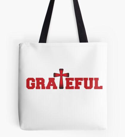 Grateful in Red Tote Bag