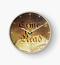 Time to Read - Magical Book Sparkle Clock Clock