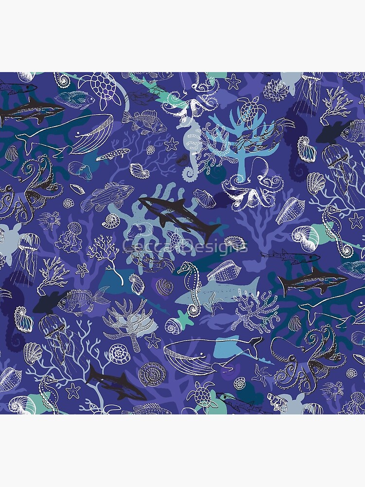 Ocean Colour Scene - blue - Nautical design by Cecca Designs by Cecca-Designs