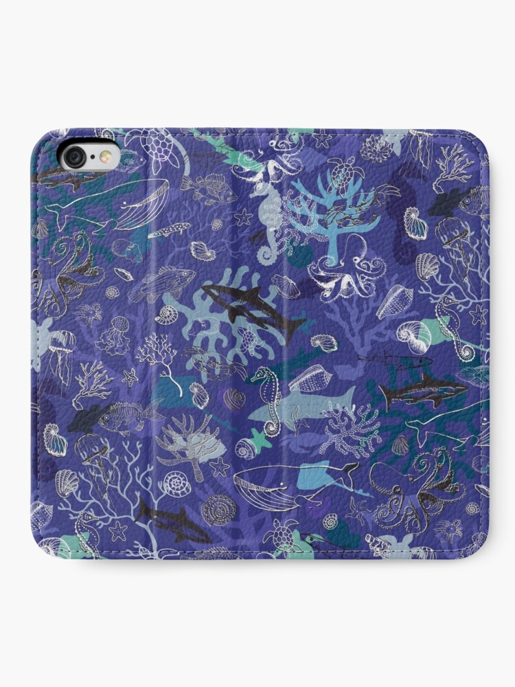 Alternate view of Ocean Colour Scene - blue - Nautical design by Cecca Designs iPhone Wallet