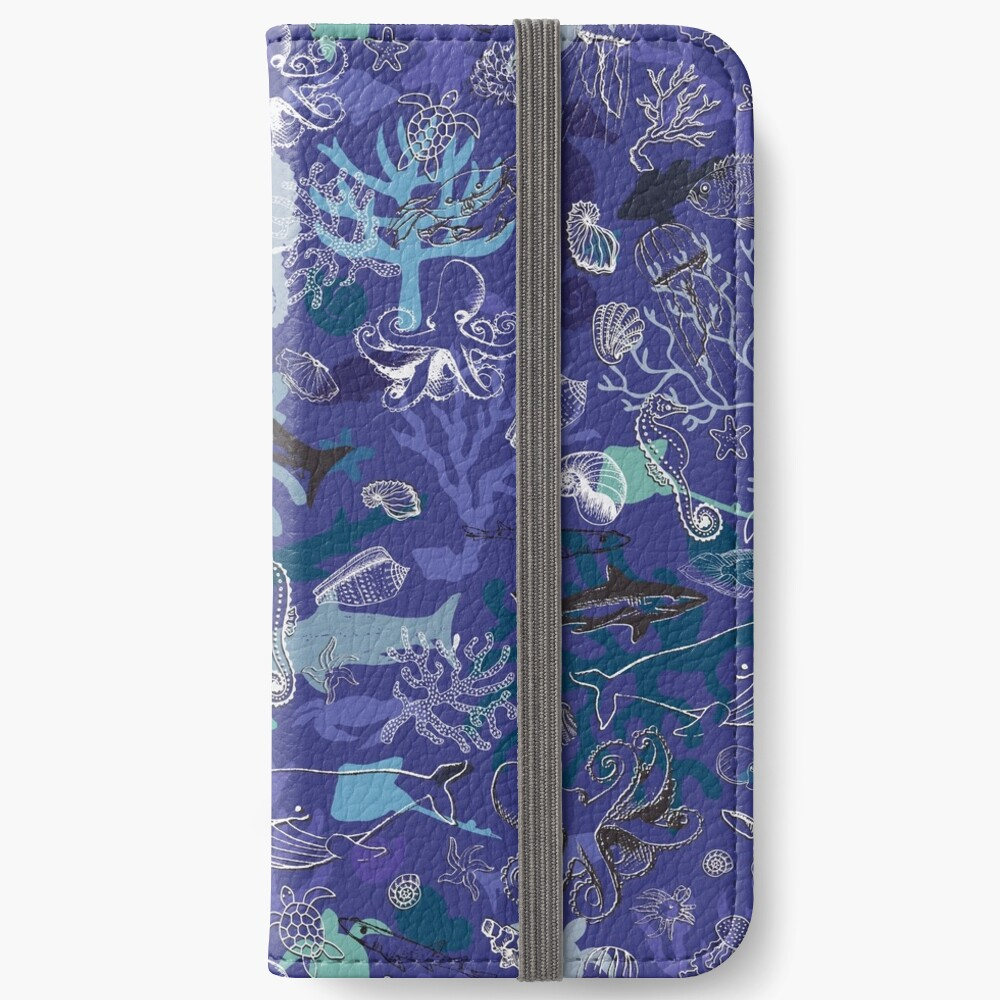 Ocean Colour Scene - blue - Nautical design by Cecca Designs iPhone Wallet