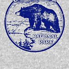 Crater Lake Bear National Park Vintage  by hilda74