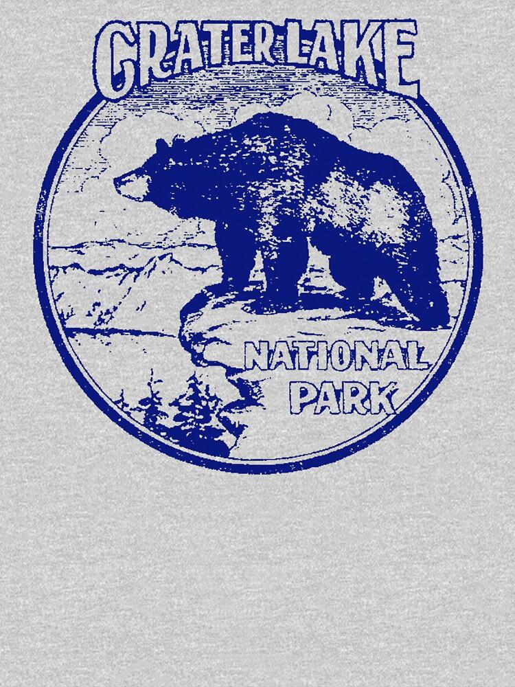 Crater Lake Bear National Park Vintage  by hilda74