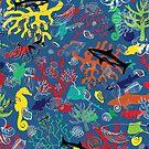 Ocean Colour Scene - fun nautical pattern by Cecca Designs by Cecca-Designs