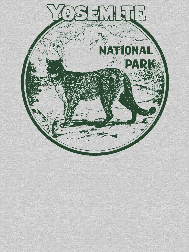 Yosemite Cougar National Park Vintage  by hilda74