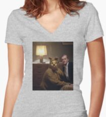The Shining Dog Suit Women's Fitted V-Neck T-Shirt