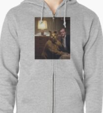 The Shining Dog Suit Zipped Hoodie