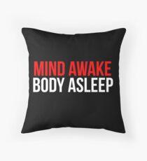 Mind Awake, Body Asleep // Mr Robot Throw Pillow
