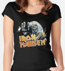 the maiden - run to the hills trooper Women's Fitted Scoop T-Shirt
