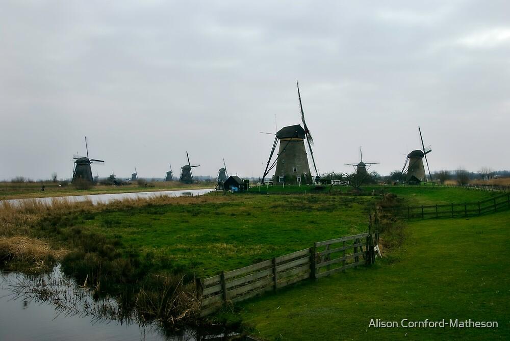 Kinderdijk - The Netherlands by Alison Cornford-Matheson
