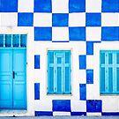 Blue & White House by NelehsStuff