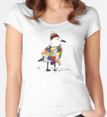 Chilli the Seagull Women's Fitted Scoop T-Shirt