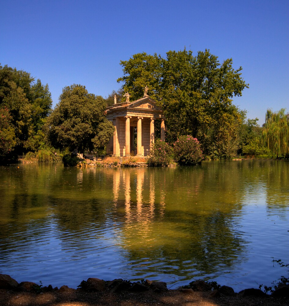 Aesculapius Temple, Villa Borghese  by LeeMartinImages