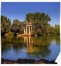 Aesculapius Temple, Villa Borghese  Poster
