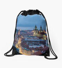 Prague castle and Tyn Church Drawstring Bag