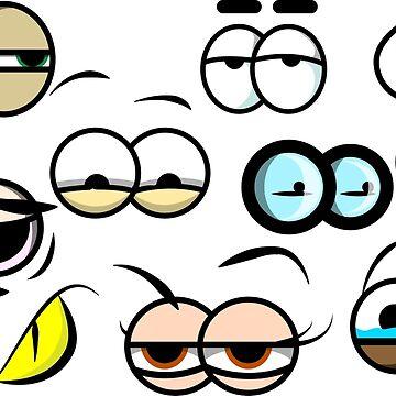 Cartoony eyes by tudy1311