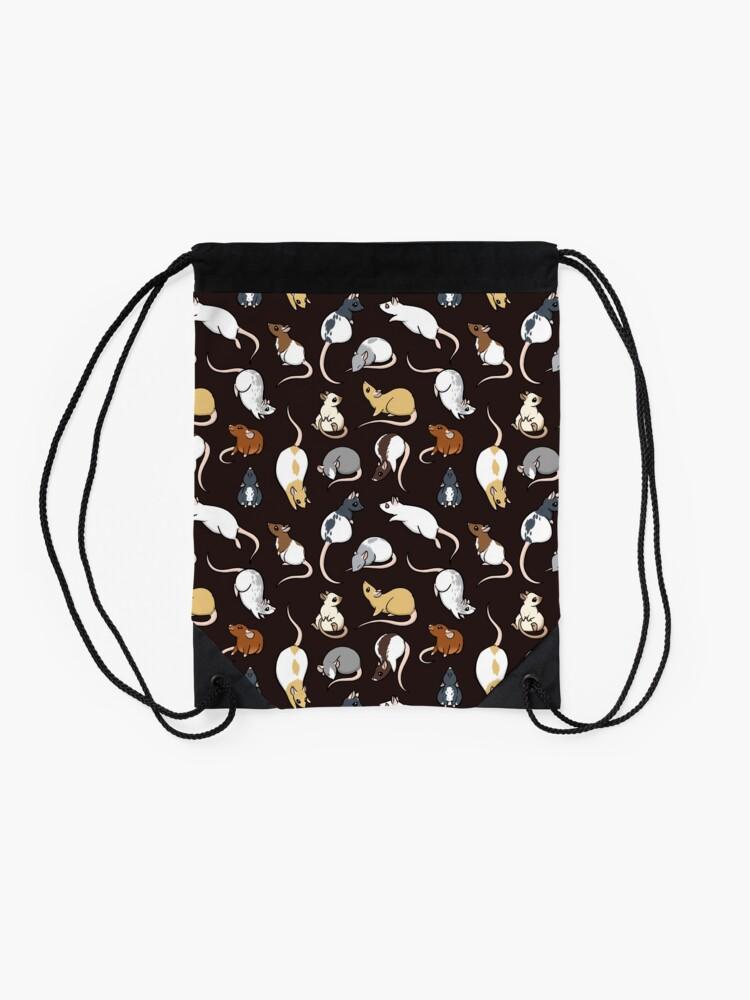 Alternate view of Rats Drawstring Bag