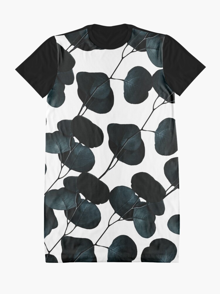 Alternate view of Dark Leaves #redbubble #artforsale Graphic T-Shirt Dress
