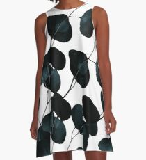Dark Leaves #redbubble #artforsale A-Line Dress