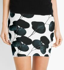 Dark Leaves #redbubble #artforsale Mini Skirt