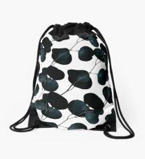 Dark Leaves #redbubble #artforsale Drawstring Bag