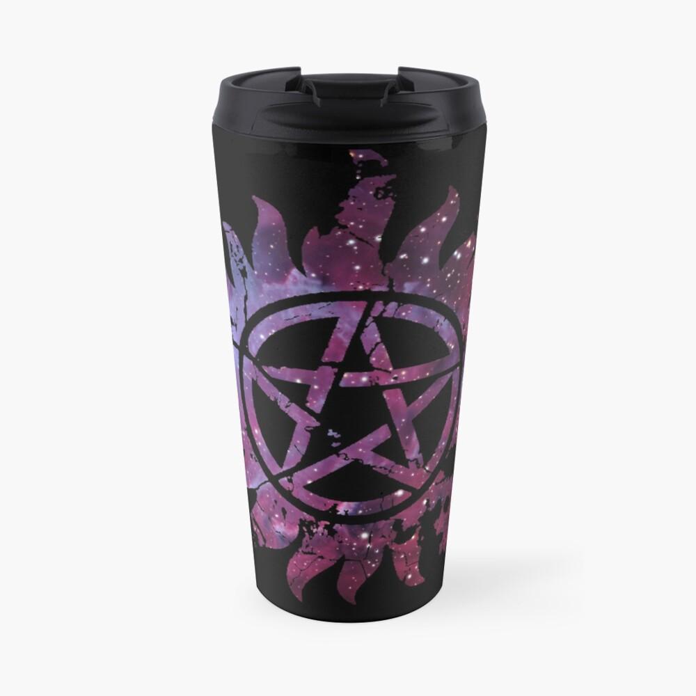 Supernatural Anti-Possession Galaxy Print Travel Mug