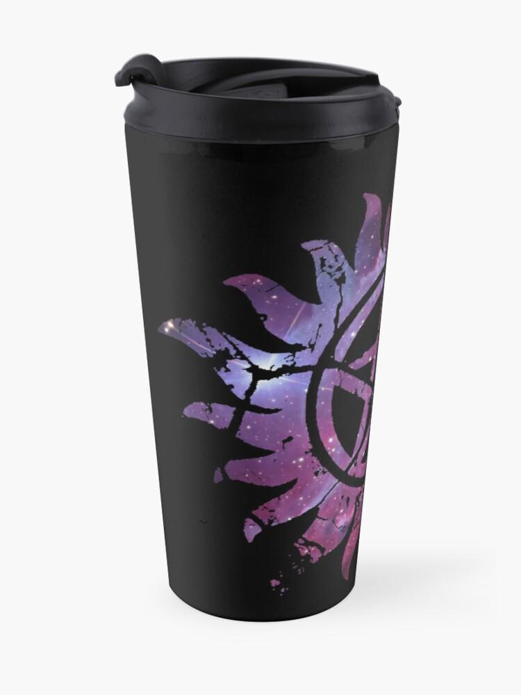 Alternate view of Supernatural Anti-Possession Galaxy Print Travel Mug