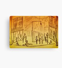 West Side Story Sketches Canvas Print