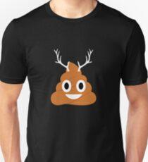 Reindeer Poop Emoji Emoticon Christmas  Unisex T-Shirt
