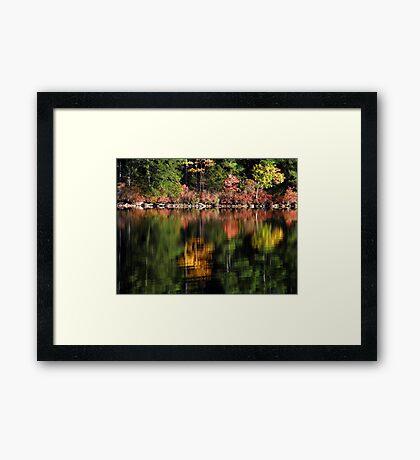 Autumn on Pleasant Pond Framed Print