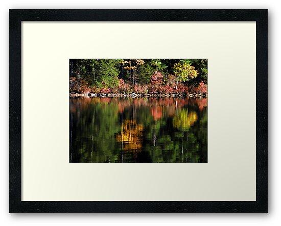 Autumn on Pleasant Pond by Len Bomba