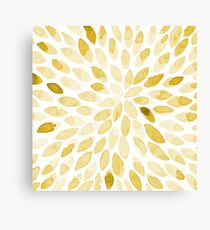 Watercolor brush strokes - yellow Canvas Print