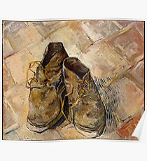 Vincent van Gogh: A Pair of Shoes [1888] Poster