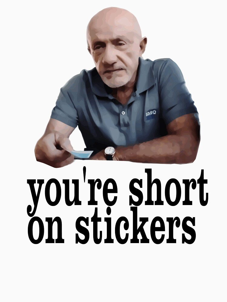 You're short on stickers by dsa157