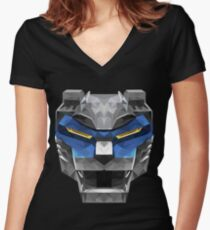 Blue Lion Women's Fitted V-Neck T-Shirt