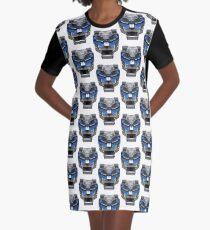 Blue Lion Graphic T-Shirt Dress
