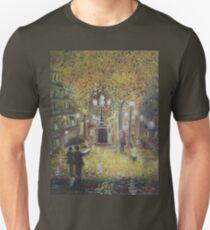Barcelona on a rainy night Unisex T-Shirt