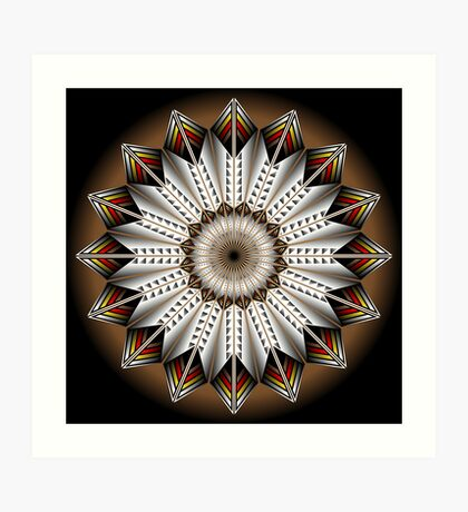 Native Feather Design Art Print