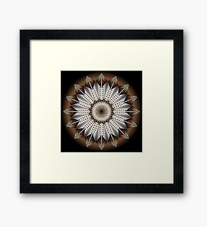 Native Feather Design Framed Print