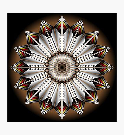 Native Feather Design Photographic Print